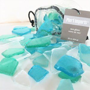 FROSTED SEA GLASS – Teal, Blue, Green & White